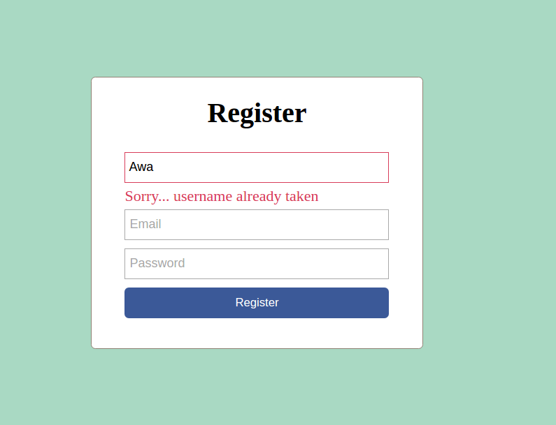 Check if user already exists without submitting form | CodeWithAwa